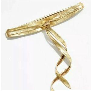 Anthropologie Ada gold belt one size NWT